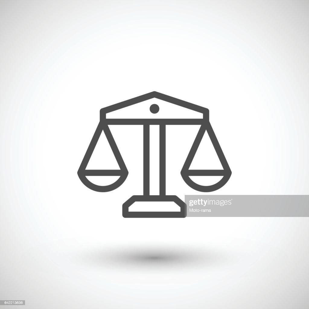 Scale line icon