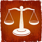 Scale Of Justice on royalty free vector Background