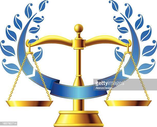 ilustraciones, imágenes clip art, dibujos animados e iconos de stock de escala de justicia - balanzas de la justicia