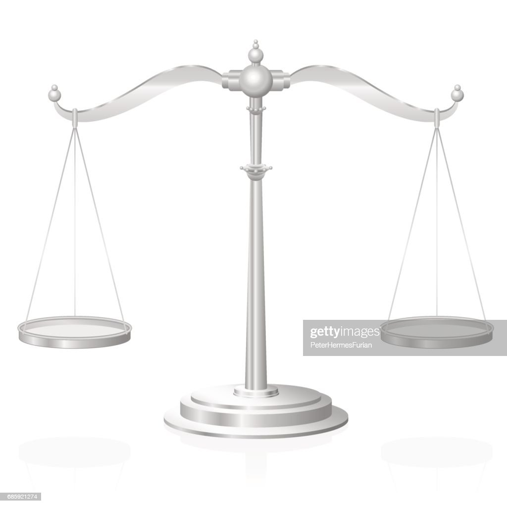 Scale Symbol For Justice Jurisdiction Balance And Fairness Isolated