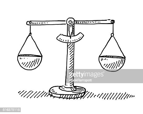 Scales Balance Drawing Vector Art | Getty Images Balance Scale Sketch