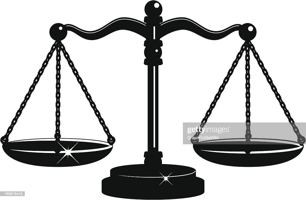 Scales of Justice Black and White