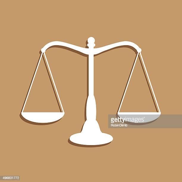 ilustraciones, imágenes clip art, dibujos animados e iconos de stock de balanzas de la justicia icono - balanzas de la justicia
