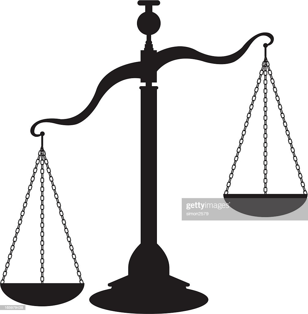 Scales of justice : stock vector