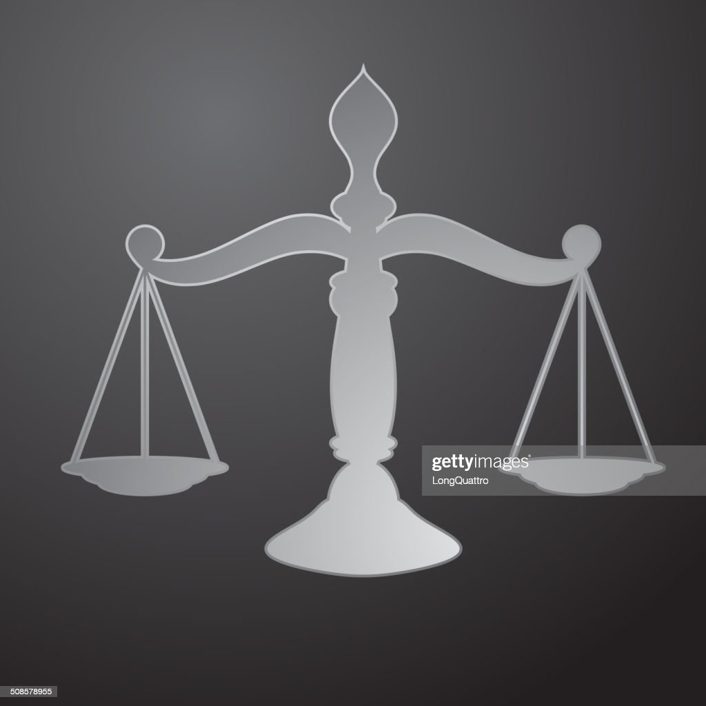 Scales of justice : Vector Art