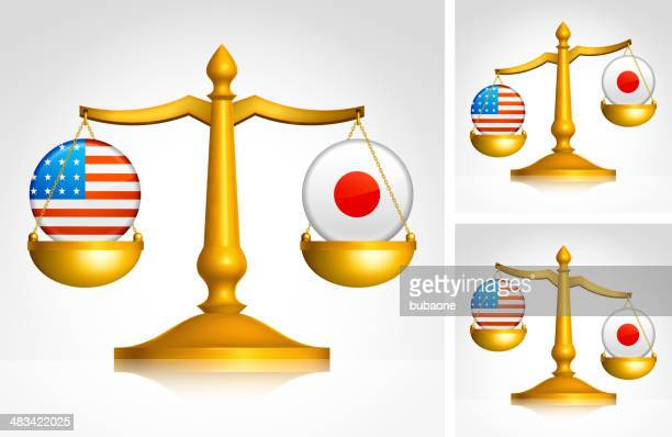 scales weighing usa and japan - oversized necklace stock illustrations