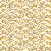 Scallop pattern repeat background