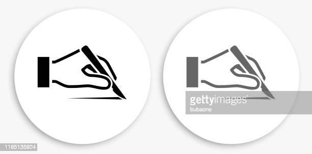 scalp black and white round icon - human scalp stock illustrations