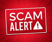 Scam Alert Warning Sign