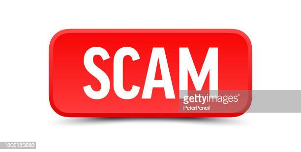 scam - button, banner, label template. vector stock illustration - scammer stock illustrations