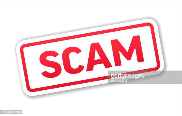 scam - stamp, banner, label, button template. vector stock illustration - scammer stock illustrations