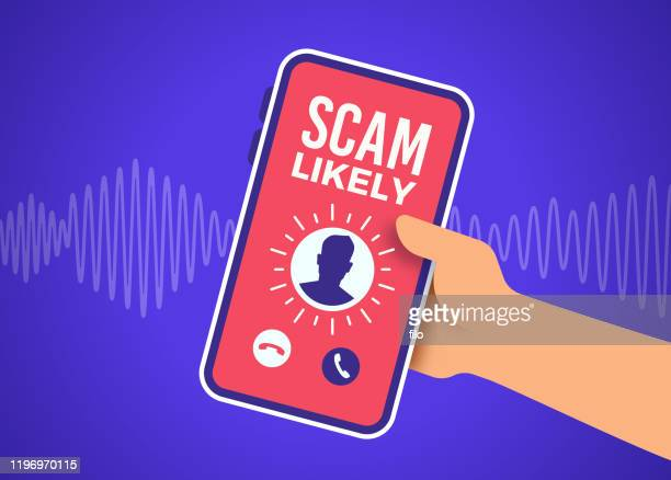 scam telephone call - white collar crime stock illustrations