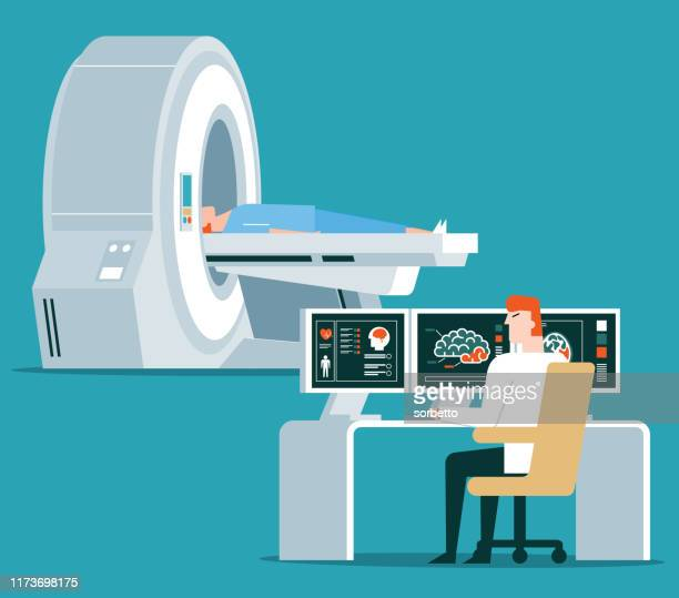 mriスキャン - 医療診断機器点のイラスト素材/クリップアート素材/マンガ素材/アイコン素材