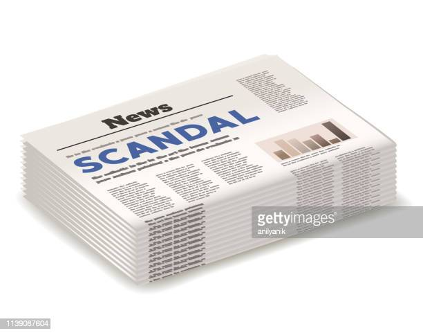 scandal headline - artificial stock illustrations