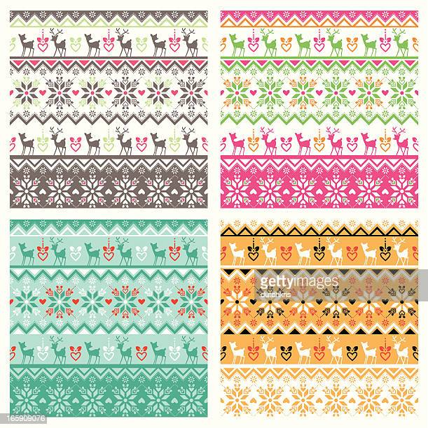 Scandinavian pattern swatch