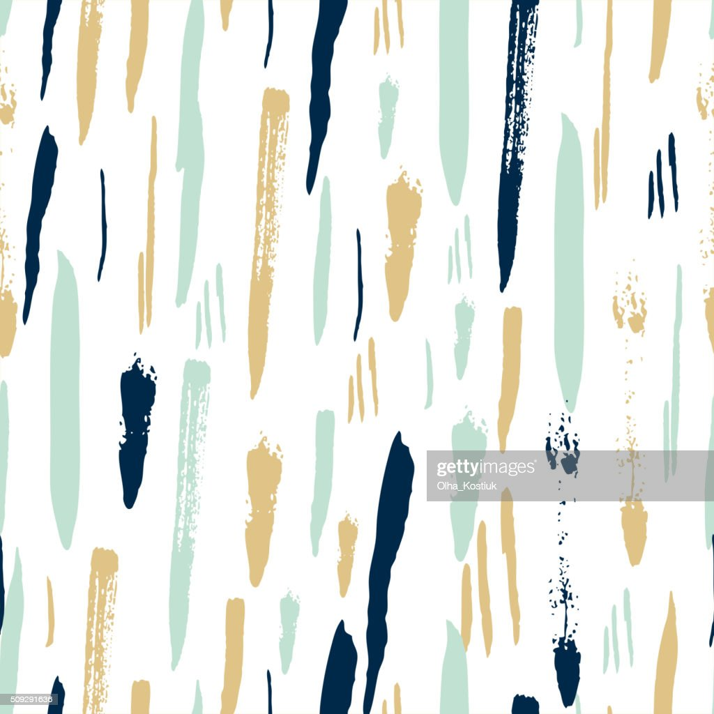 Scandinavian seamless pattern with brush strokes