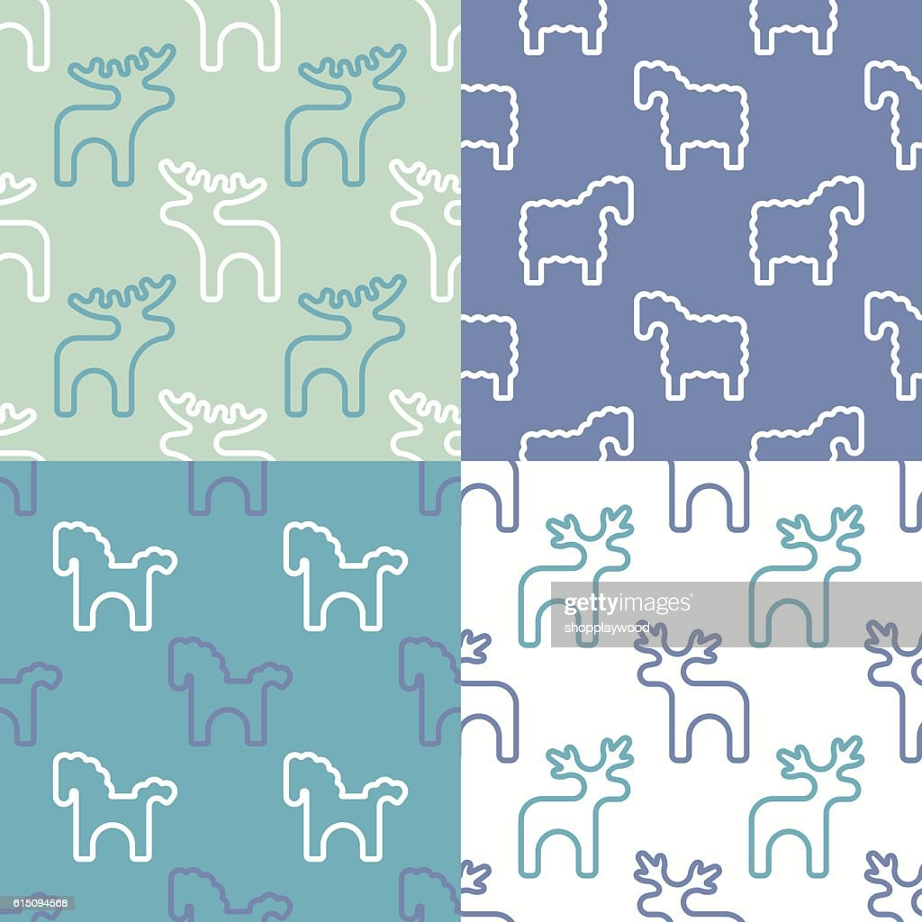 Scandy baby pattern set ser 6