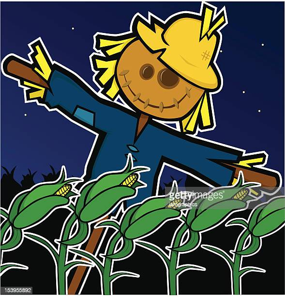 scarecrow with corn - power outage stock illustrations, clip art, cartoons, & icons