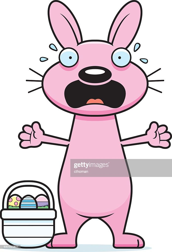 scared cartoon easter bunny high res vector graphic getty images 2