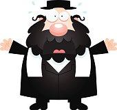 Scared Cartoon Rabbi