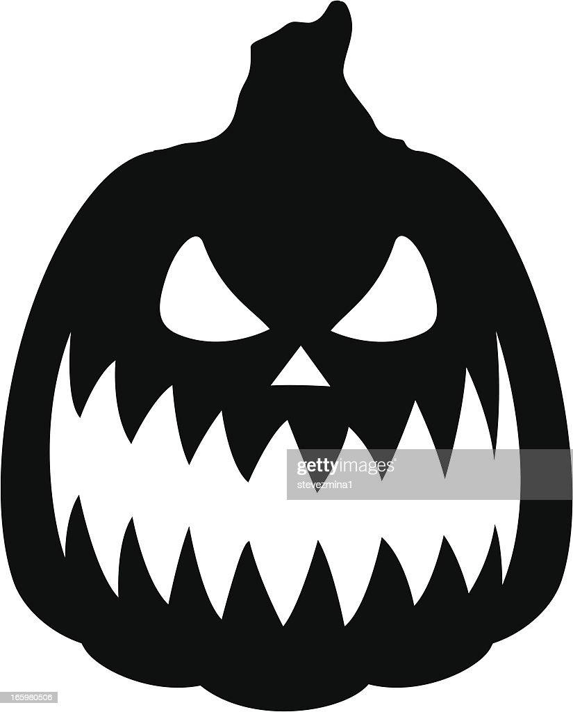 pumpkin silhouette vector