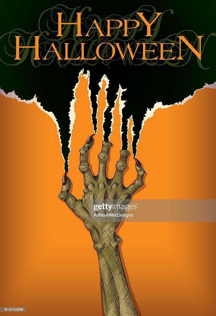 Scary Halloween Zombie Hand