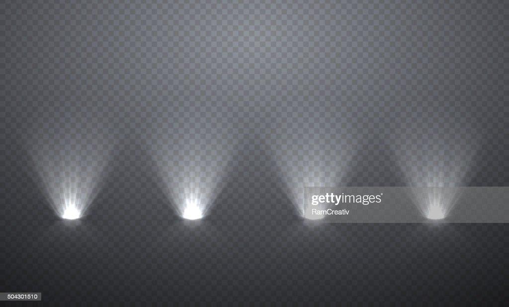 Scene illumination from below