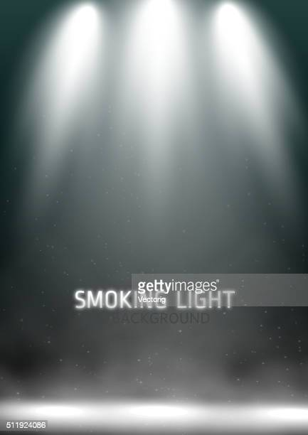 scene spotlights - smoke physical structure stock illustrations, clip art, cartoons, & icons