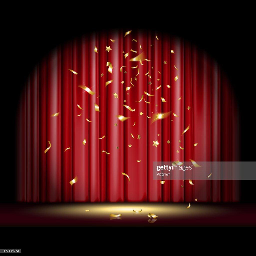 Scene with Falling Confetti