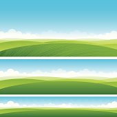 Scenic fields background
