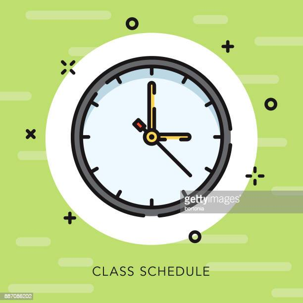 Scheduling Open Outline Education Icon