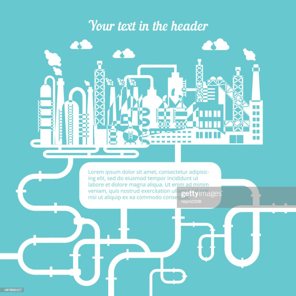 Gas Refinery Schematic Trusted Wiring Diagrams Process Flow Diagram Natural Of A Producing Vector Art Getty Images Oil Chart
