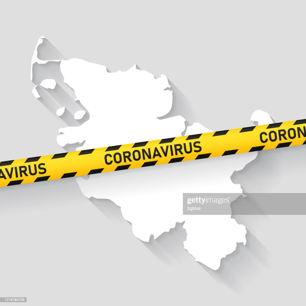 Schleswigholstein Map With Coronavirus Caution Tape Covid19 Outbreak High Res Vector Graphic Getty Images