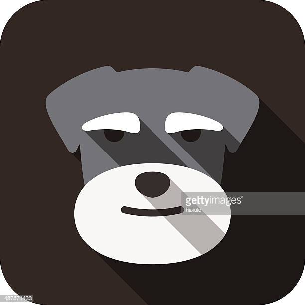 Schnauzer dog face flat design