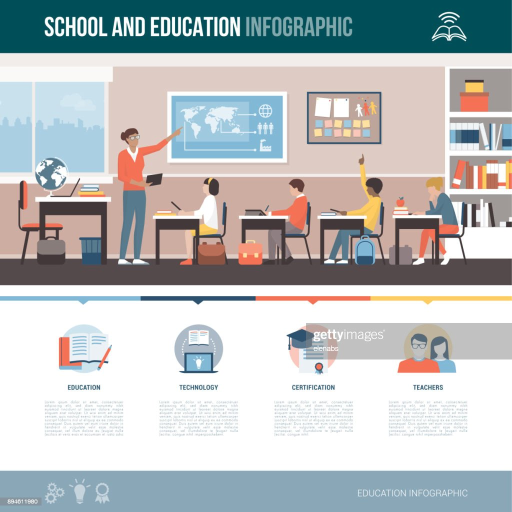 School and education infographic