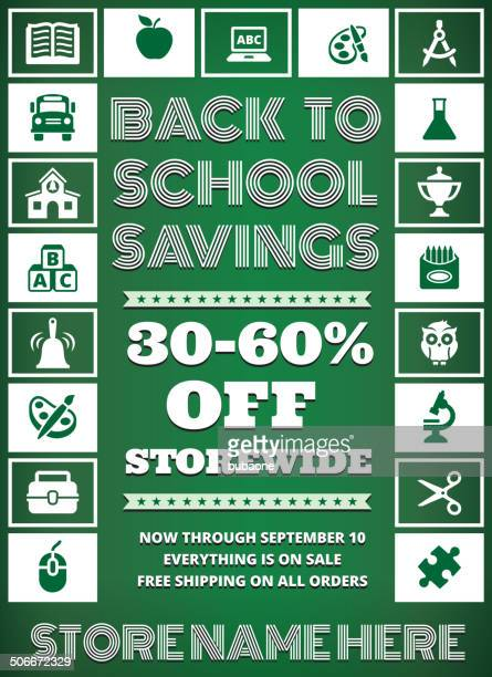 school and education Sale Banner education royalty free vector art