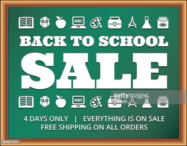school and education Sale Banner on Blackboard