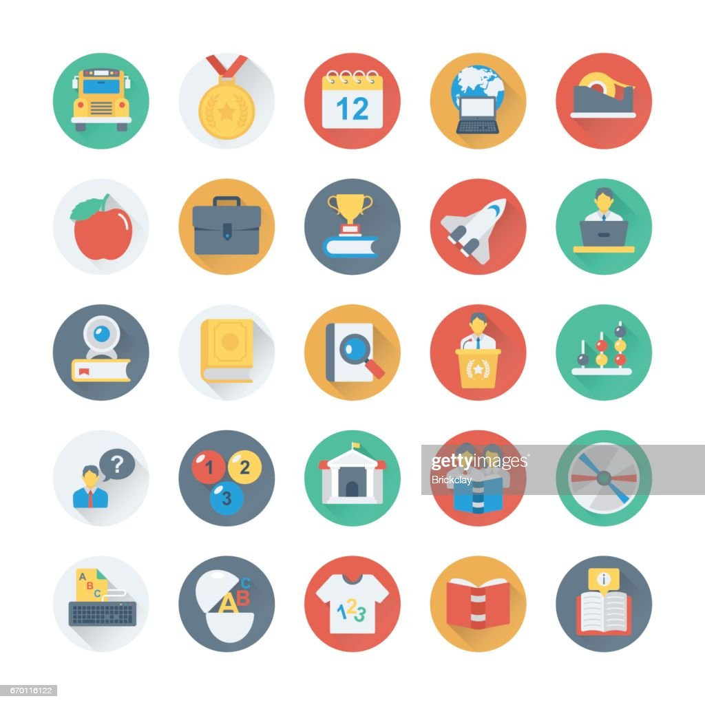 School and Education Vector Icons 5