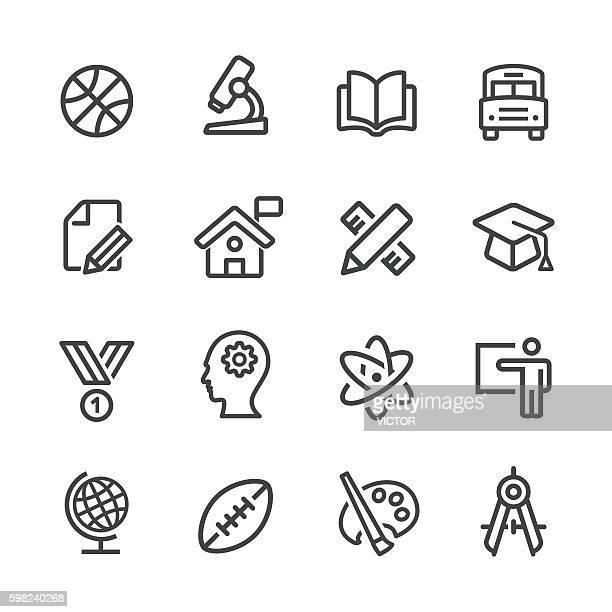 School and University Icons - Line Series