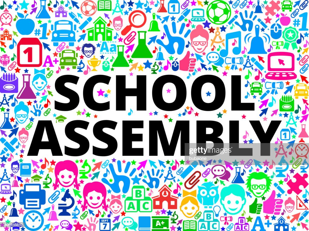 Assembly Icon: School Assembly School And Education Vector Icon