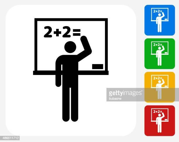 School Blackboard Icon Flat Graphic Design