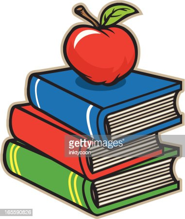 school books apple vector art getty images