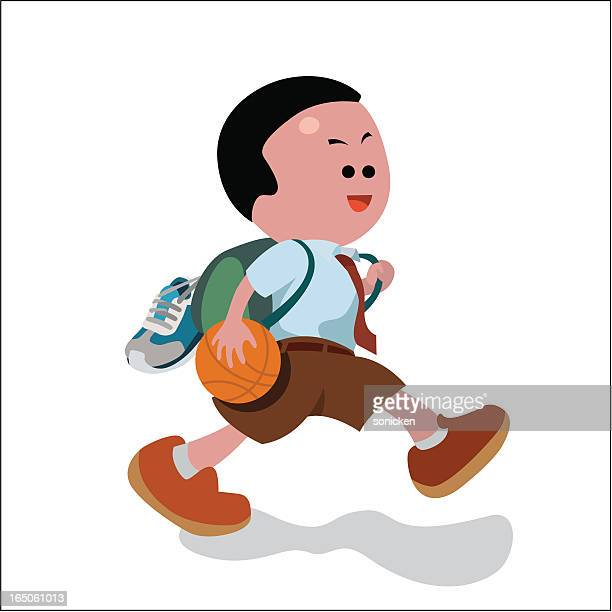 school boy - school uniform stock illustrations, clip art, cartoons, & icons