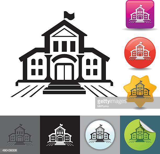 School building icon | solicosi series