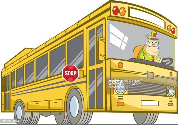 school bus and driver