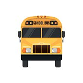 School Bus Icon on white background.