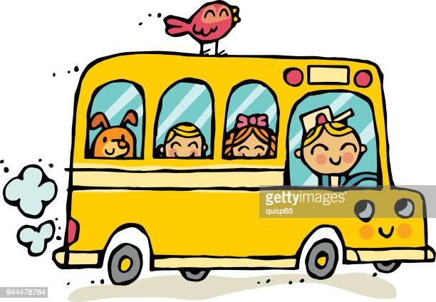 30 Meilleurs Bus Scolaire Illustrations Cliparts Dessins