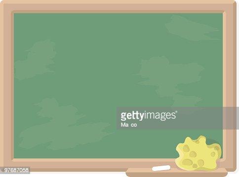 school chalkboard blank sign vector art getty images