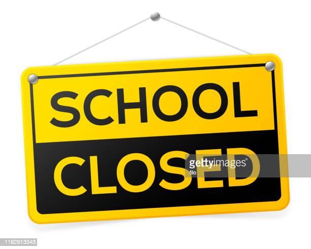 学校閉鎖標識 - 閉じている点のイラスト素材/クリップアート素材/マンガ素材/アイコン素材