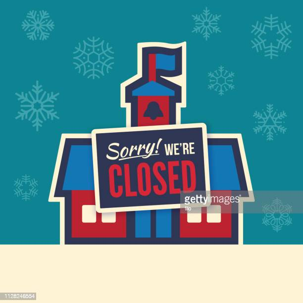 school closing - closing stock illustrations, clip art, cartoons, & icons